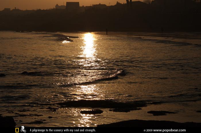 青岛印象:游走在傍晚的海边